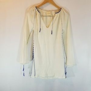 Loomstate Embroidered peasant blouse.